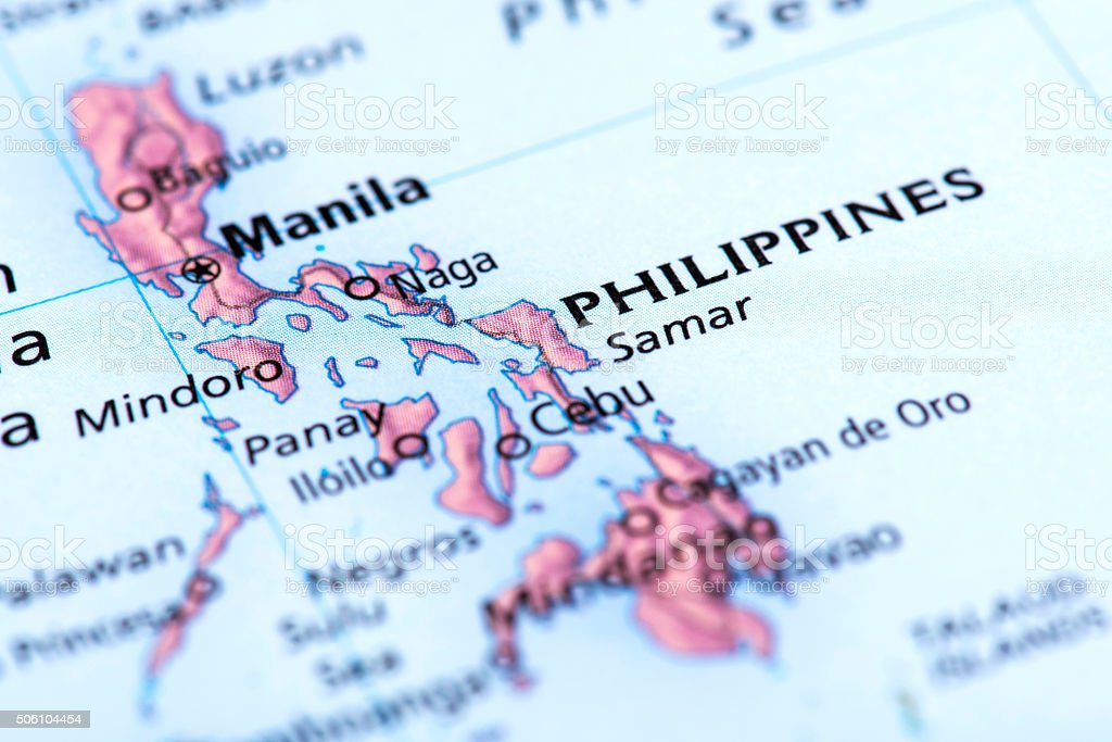 Map of Manila, Philippines stock photo