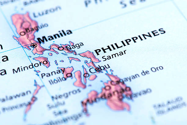 map of manila, philippines - philippines stock photos and pictures