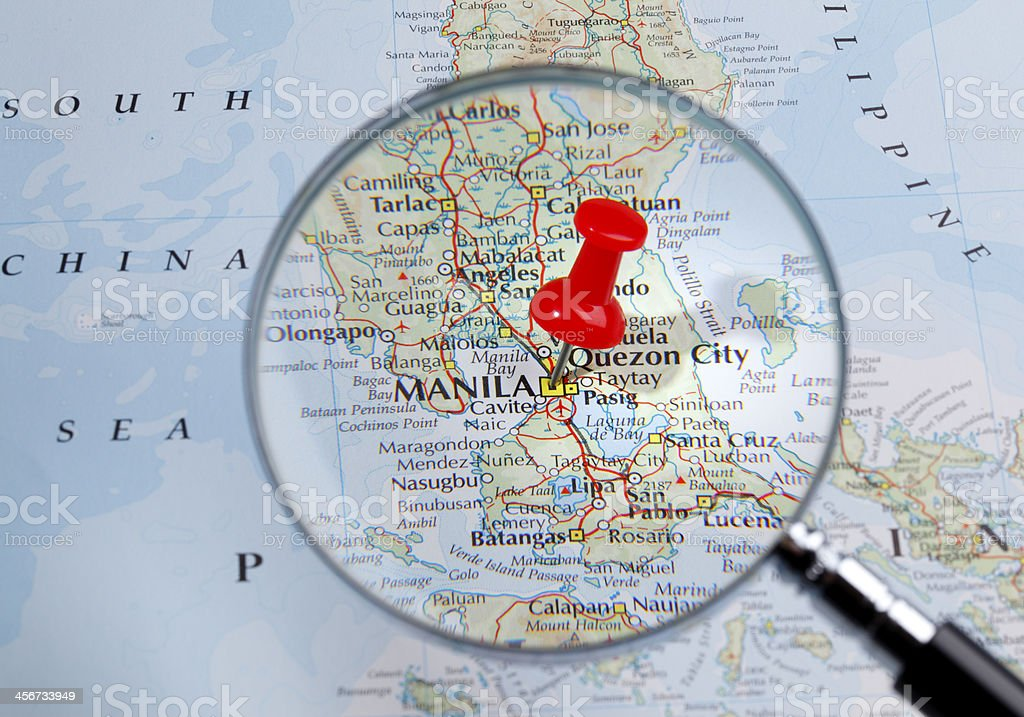Map of Manila/Philippines stock photo