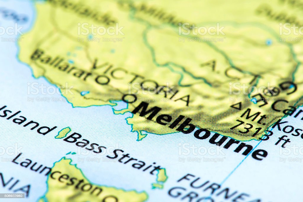 Map Of Melbourne Australia.Map Of Melbourne Australia Stock Photo More Pictures Of Australia