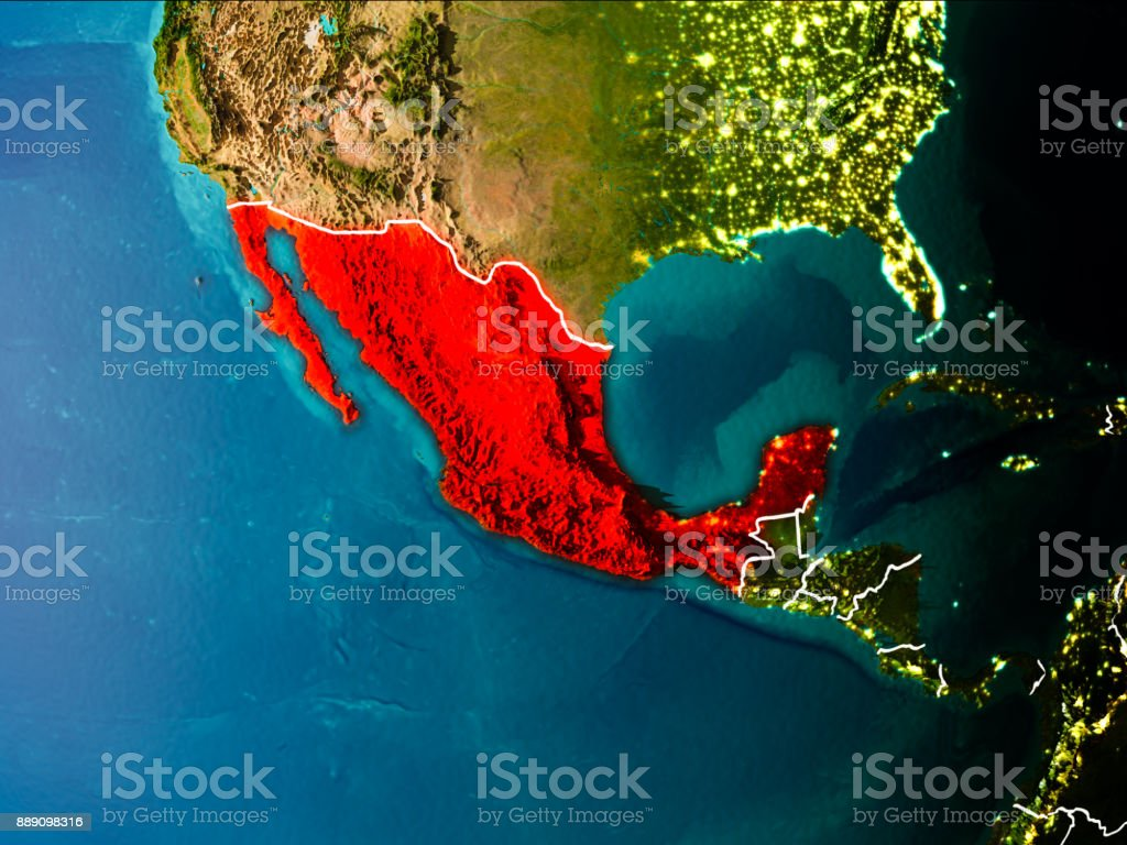Mapa de México en la tierra - foto de stock