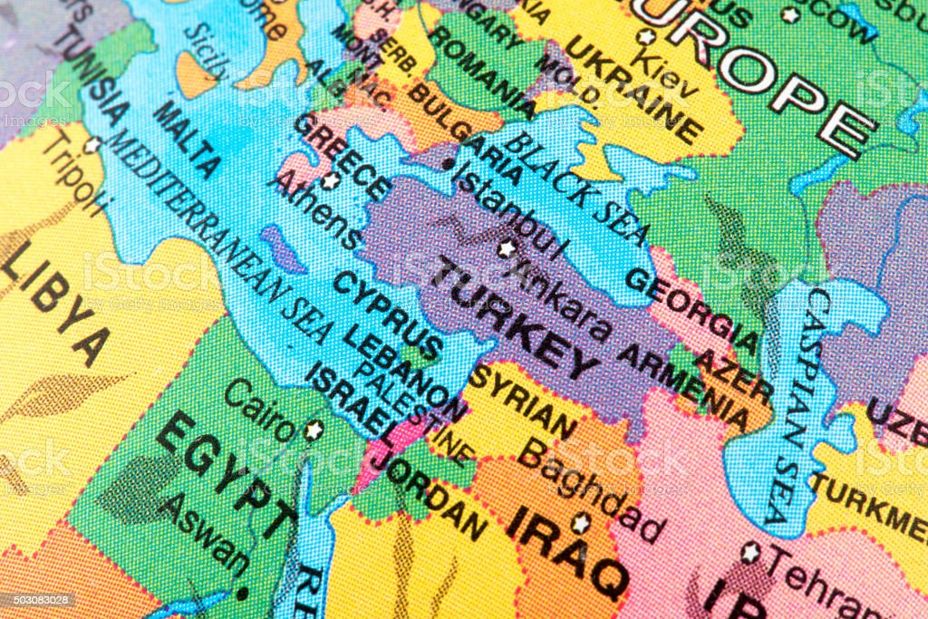Map of middle eastern countries stock photo istock desktop globe globe navigational equipment map navigational equipment world map map of middle eastern countries gumiabroncs Images