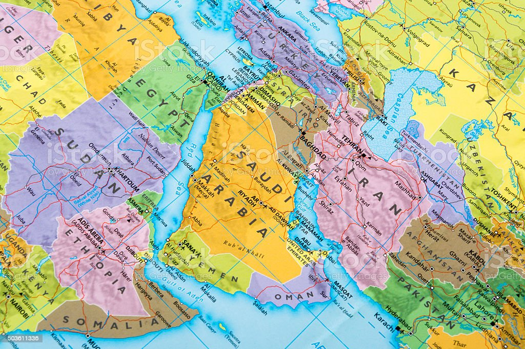 Map of middle eastern countries stock photo more pictures of map of middle eastern countries royalty free stock photo gumiabroncs Images