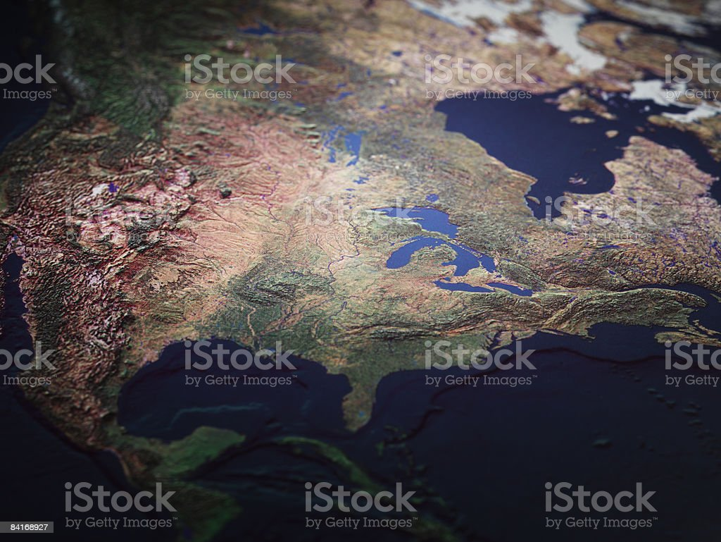 Map of Midwest USA royalty-free stock photo