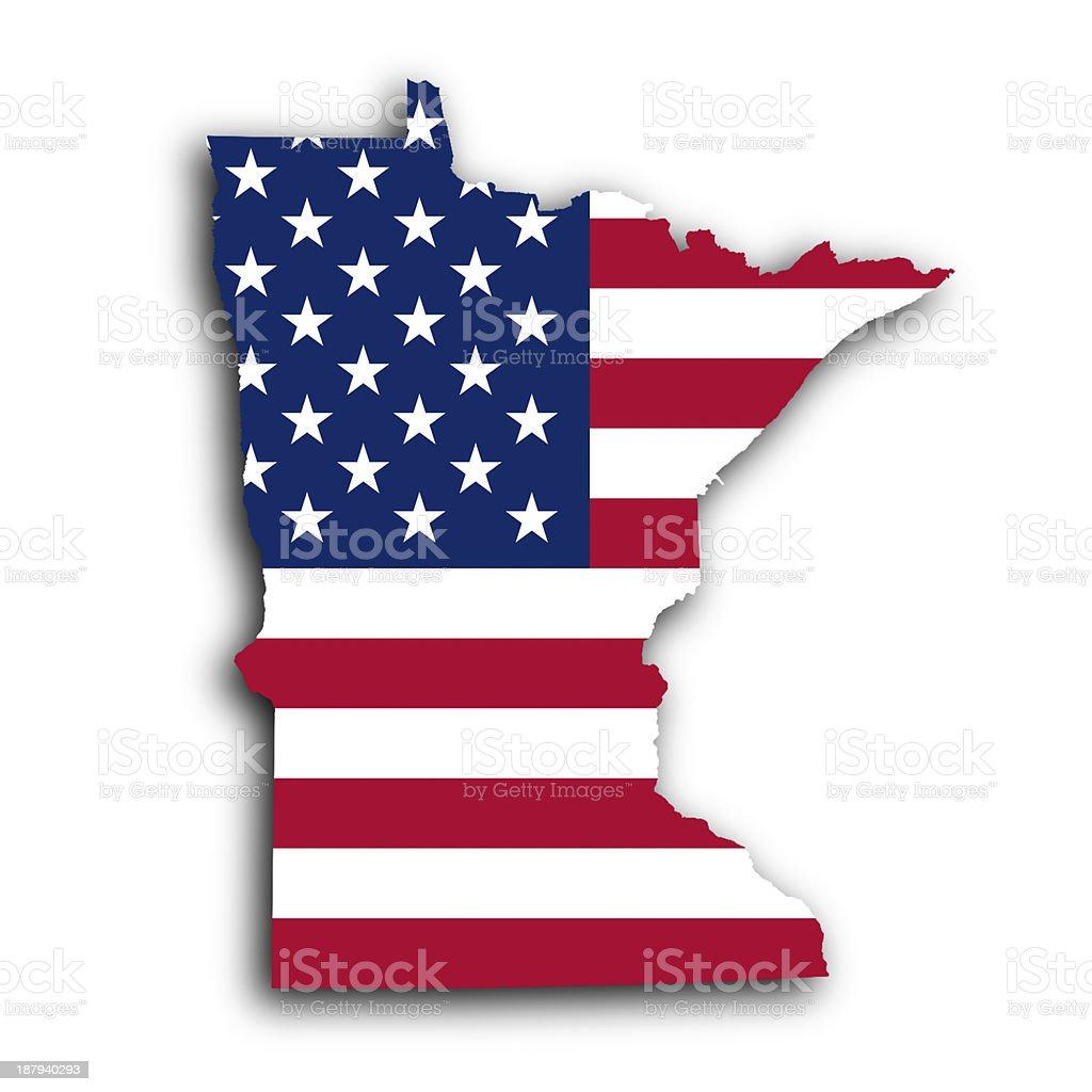 Map of Minnesota stock photo