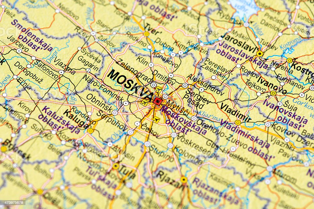 Map Of Moscow Russia Stock Photo & More Pictures of 2015 | iStock