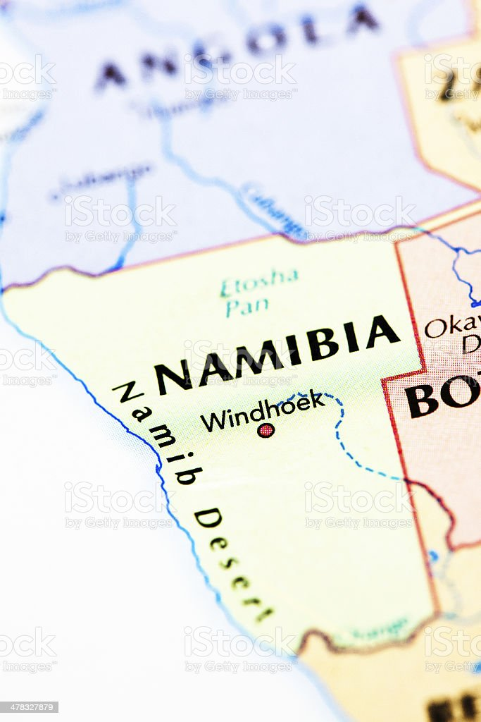 Map Of Namibia Africa Stock Photo More Pictures Of Africa Istock