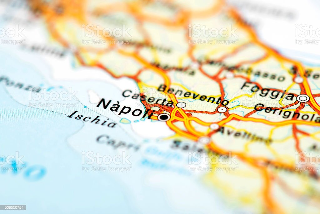 Map Of Naples Italy Stock Photo & More Pictures of Capital Cities ...