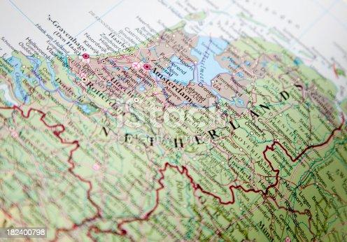istock map of netherlands 182400798