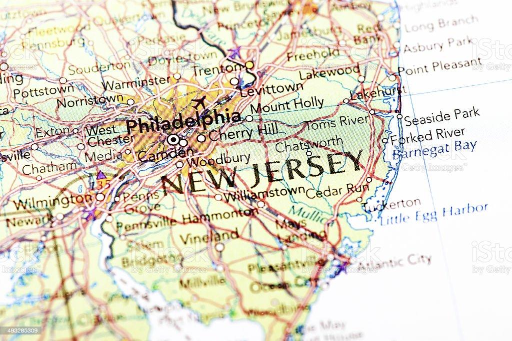 Mapa De Nueva Jersey Fotografía De Stock Y Más Imágenes De - Mapa de new jersey