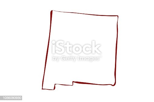 istock Map of New Mexico 1056090930