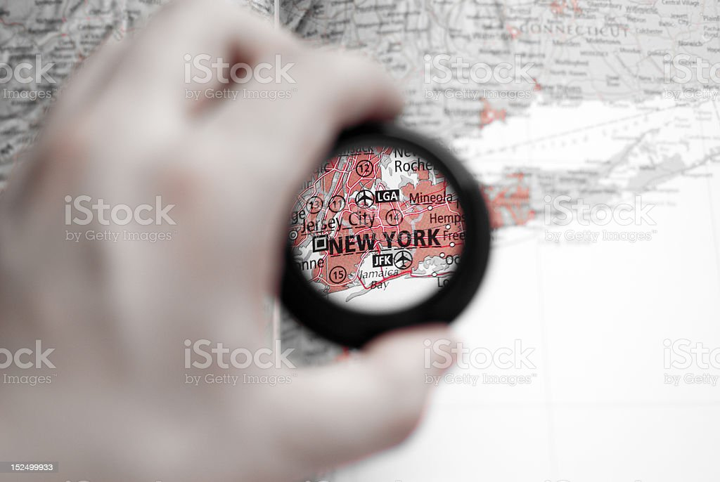 Map of New York royalty-free stock photo