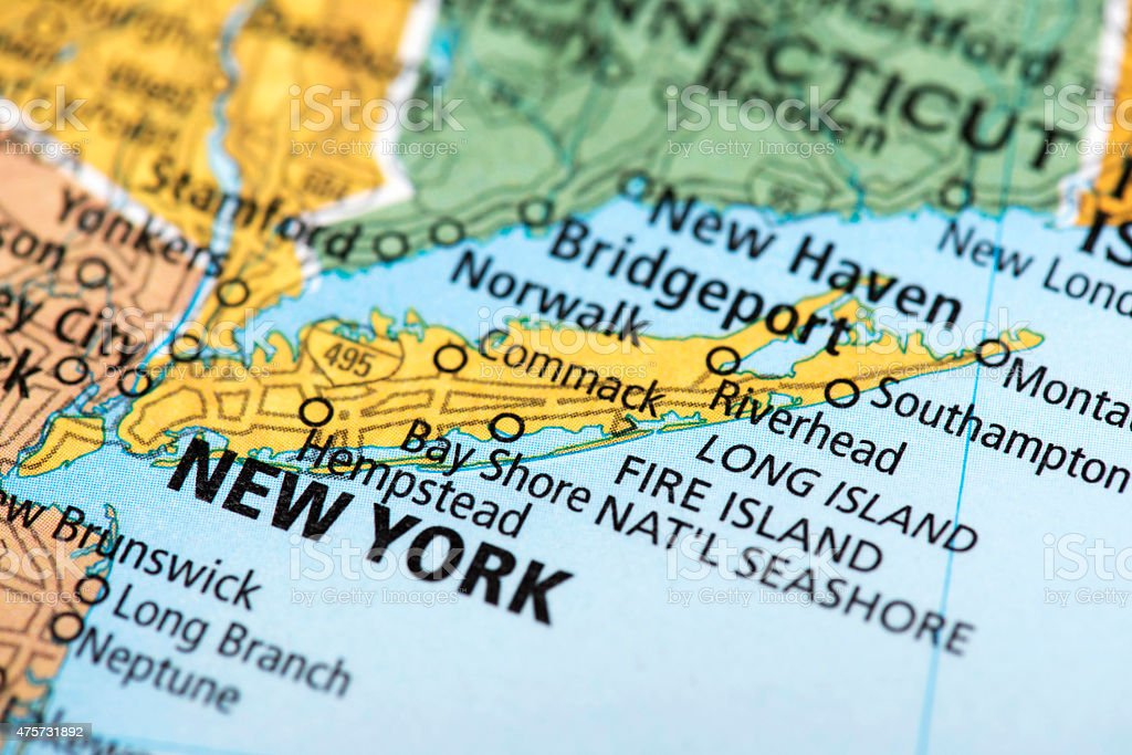 Map Of New York Usa Stock Photo - Download Image Now
