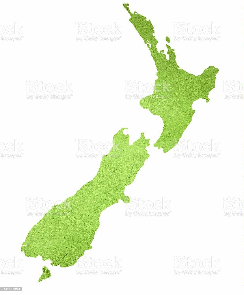 맵 뉴질랜드 흰색 바탕에 그림자와 royalty-free 스톡 사진