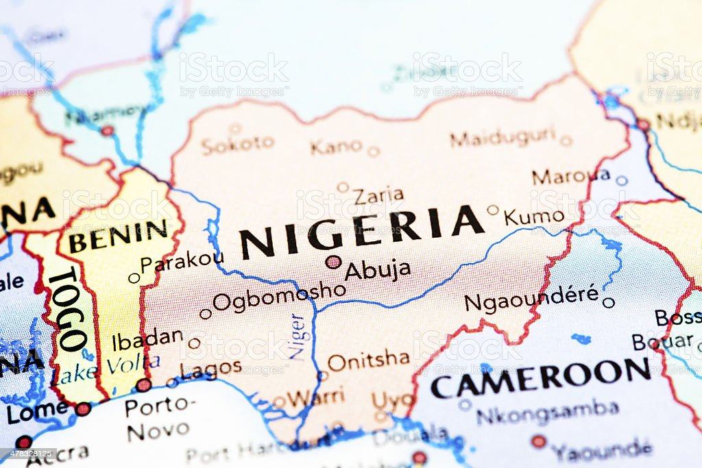 Map Of Nigeria Africa Stock Photo & More Pictures of Abuja | iStock