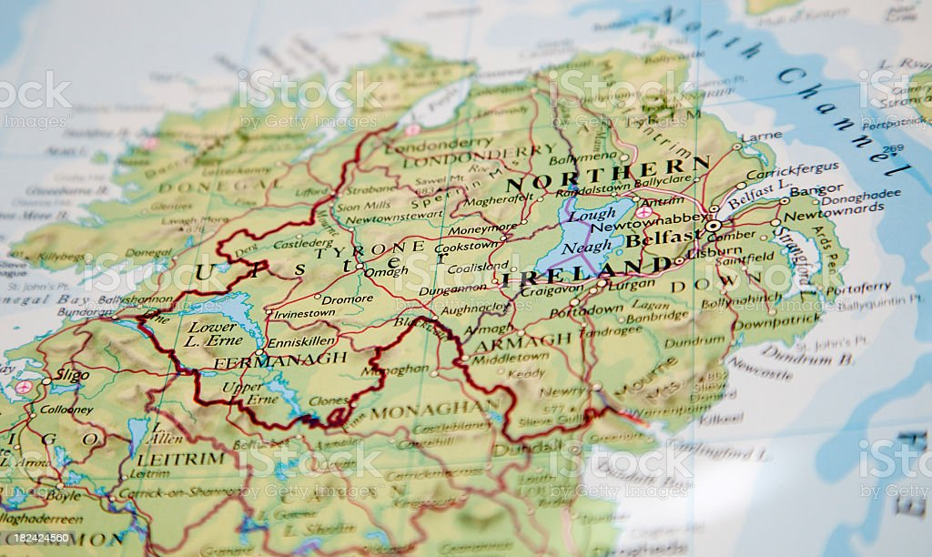 map of northern ireland stock photo