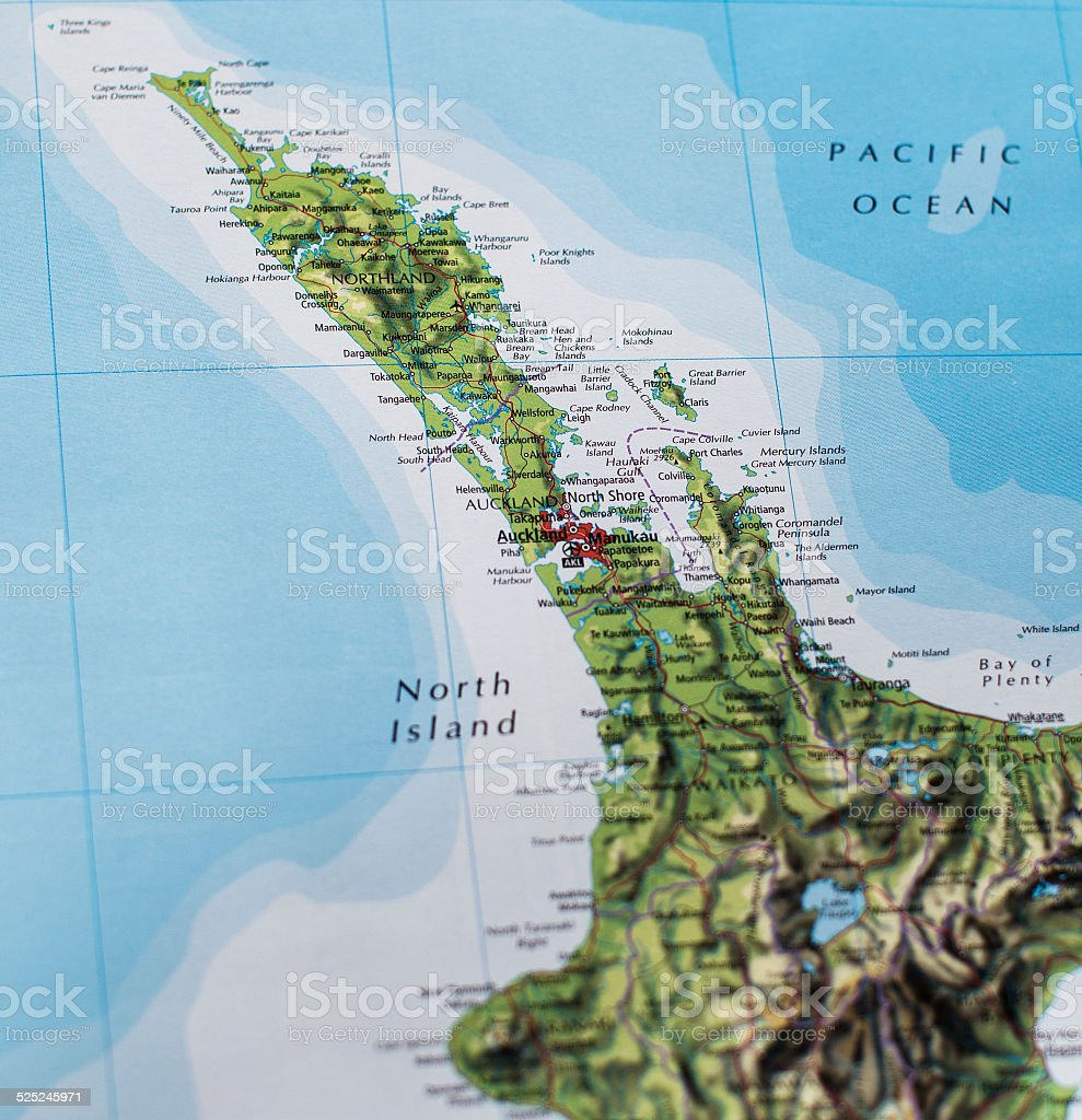Map Of Northland New Zealand Stock Photo More Pictures of Auckland
