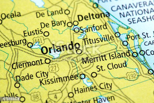 Map Of Orlando In Florida State Usa stock photo | iStock Usa Map Orlando on map of orlando, california orlando, zip code map orlando, florida orlando,