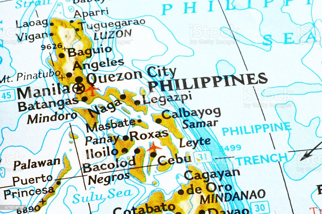 Map of Philippines stock photo