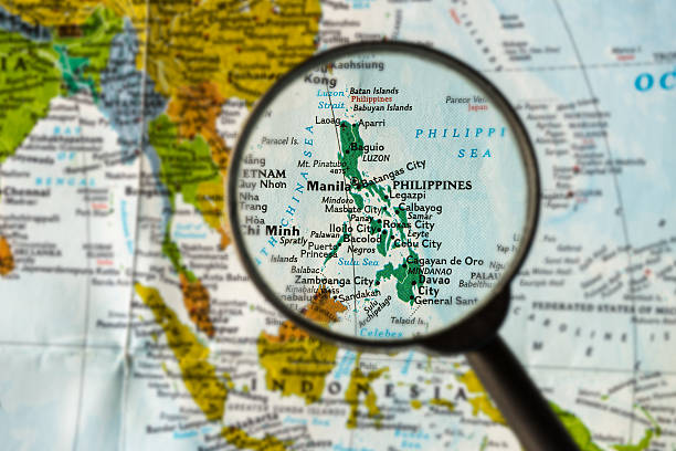 map of philippines - philippines stock photos and pictures