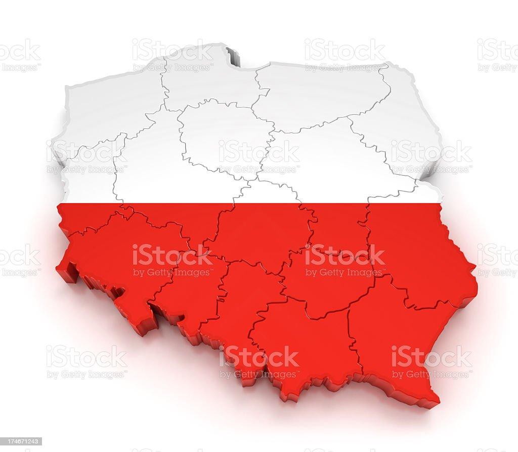 Map of Poland royalty-free stock photo