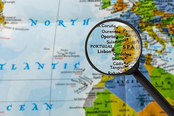 mapa de portugal - portugal map imagens e fotografias de stock