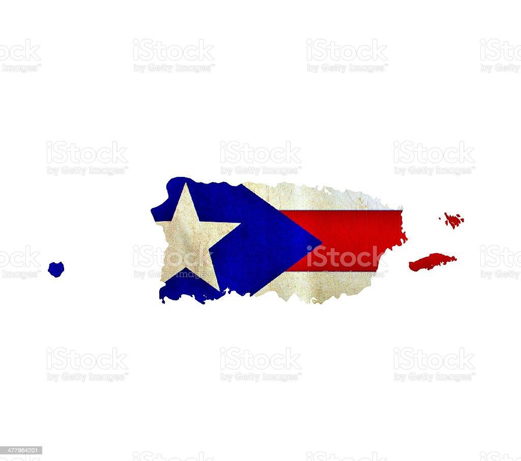 Mapa aislada de Puerto Rico, - foto de stock