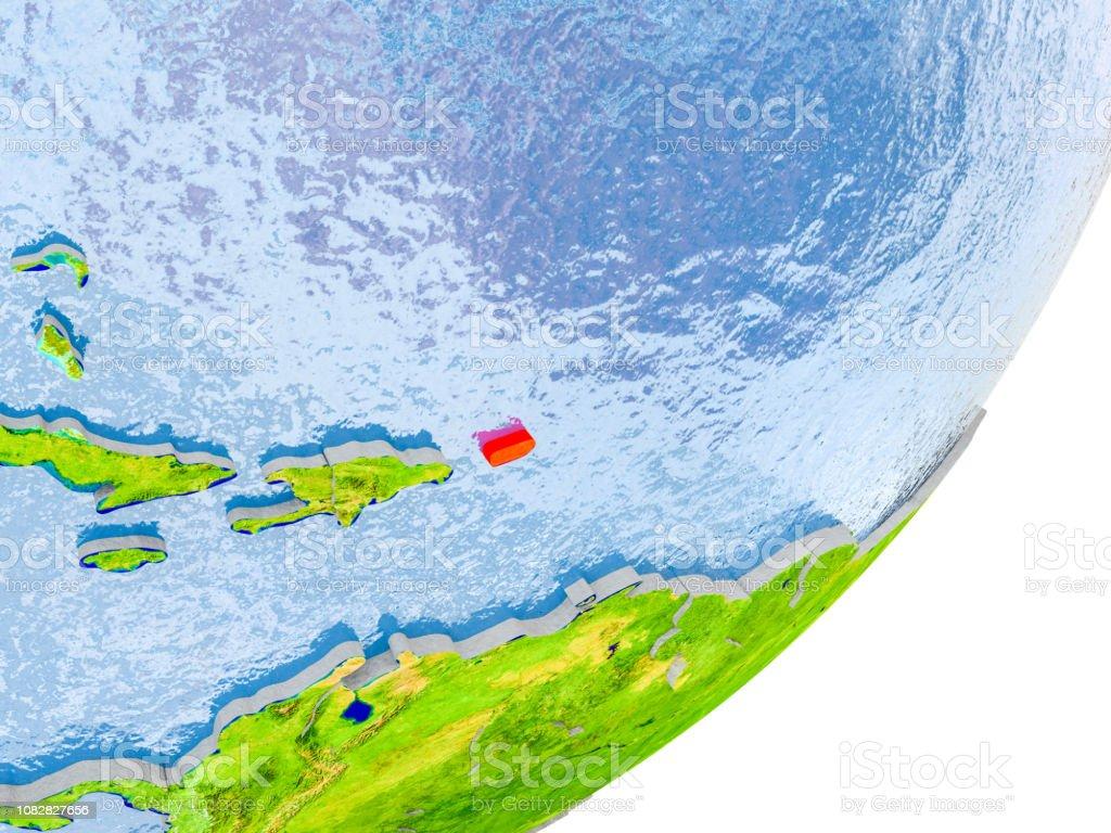 Mapa de Puerto Rico en la tierra - foto de stock