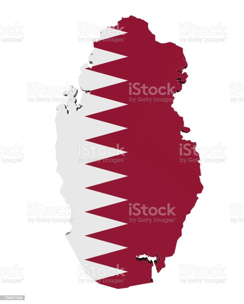 Mapa de Qatar aislado - foto de stock