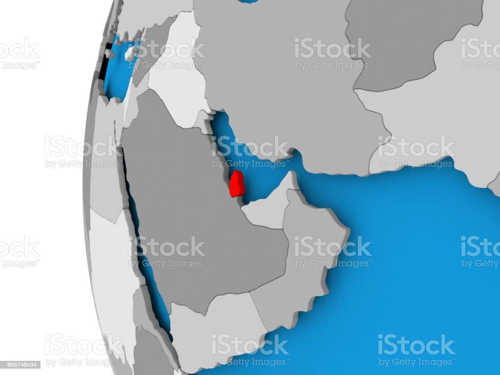 Carte Du Monde Qatar.Carte Du Qatar Sur Le Monde Politique Photos Et Plus D Images De