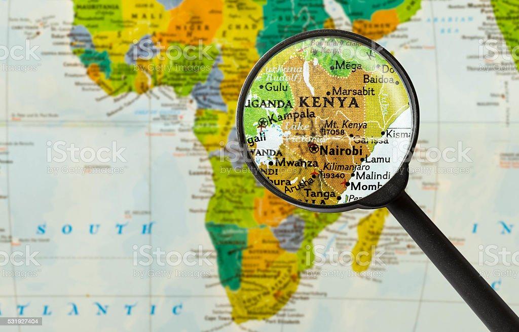 Malindi Cartina Geografica.Map Of Republic Of Kenya Stock Photo Download Image Now Istock