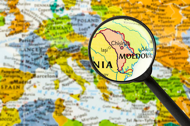 map of republic of moldova - moldova stock pictures, royalty-free photos & images
