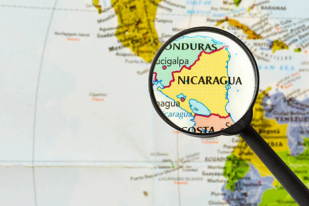 map of Republic of Nicaragua stock photo