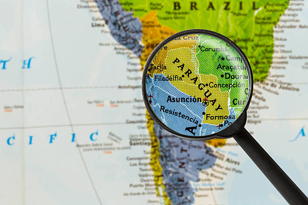map of Republic of Paraguay stock photo