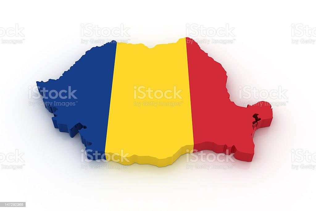 Map of Romania royalty-free stock photo