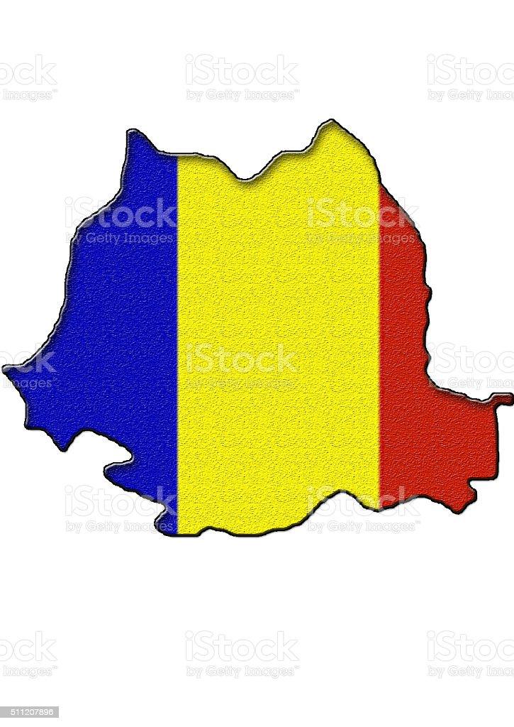 Map of Romania stock photo