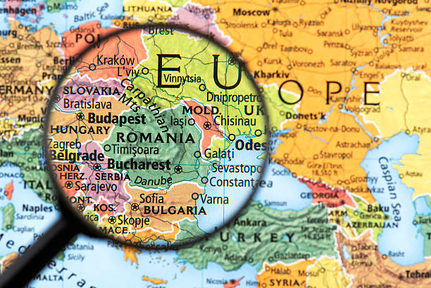 map of romania - romania stock photos and pictures