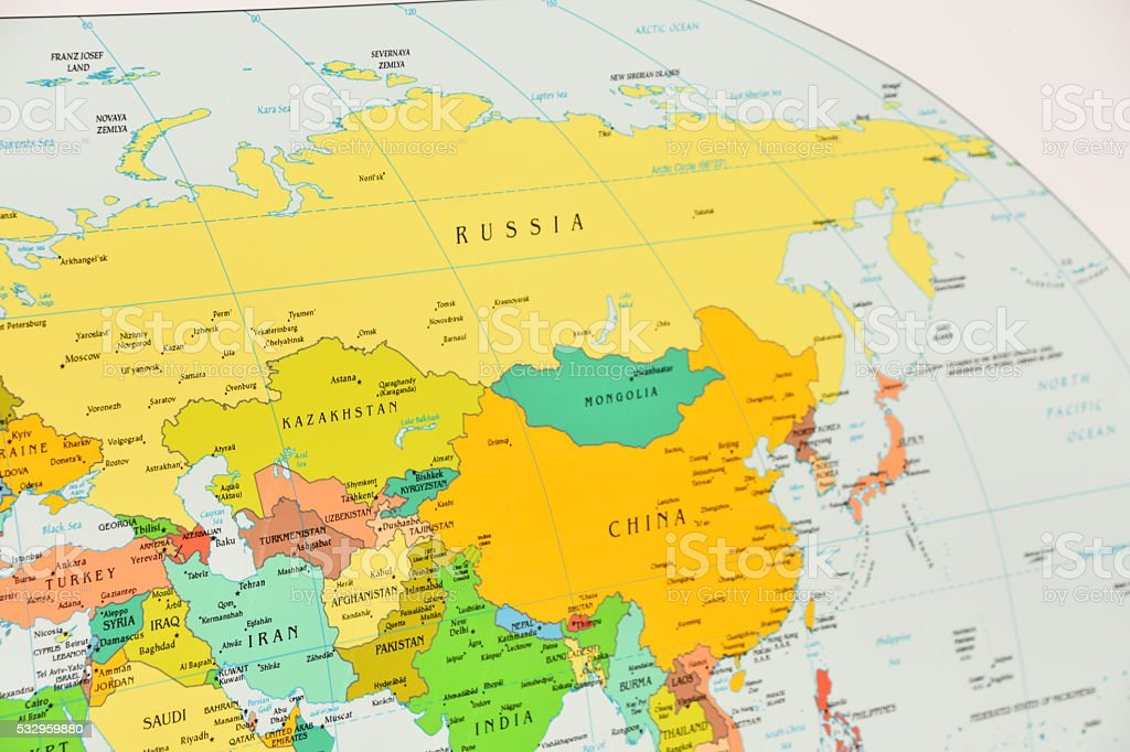 Map Of Russia China Stock Photo More Pictures Of Asia Istock