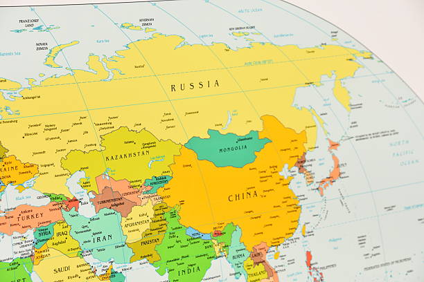 Royalty Free Physical Map Of Russia Pictures Images And Stock - Russia physical map