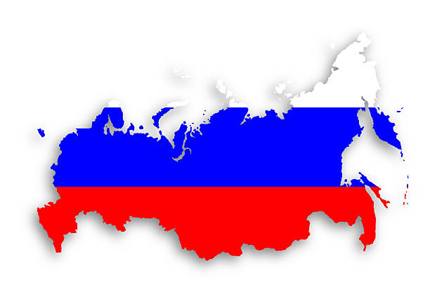 map-of-russia-with-flag-inside-picture-id184773505