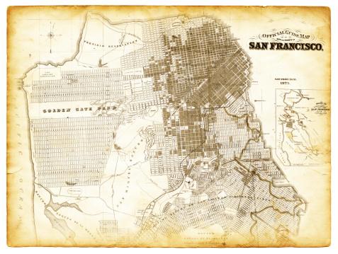 Map of San Francisco 1873
