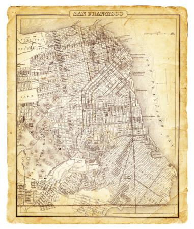 Map of San Francisco 1878