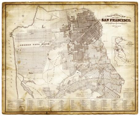 Map of San Francisco 1881