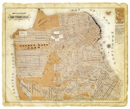 Map of San Francisco 1892
