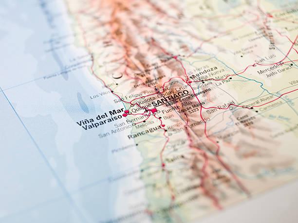 Map of Santiago stock photo