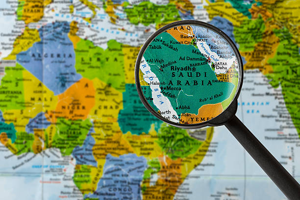 map of saudi arabia - saudi arabia map stock photos and pictures