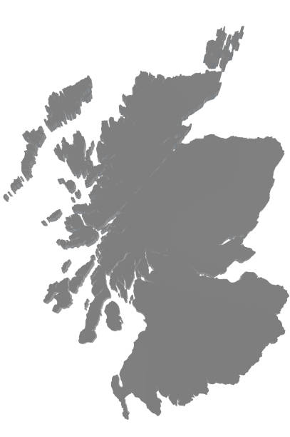 Map of Scotland stock photo