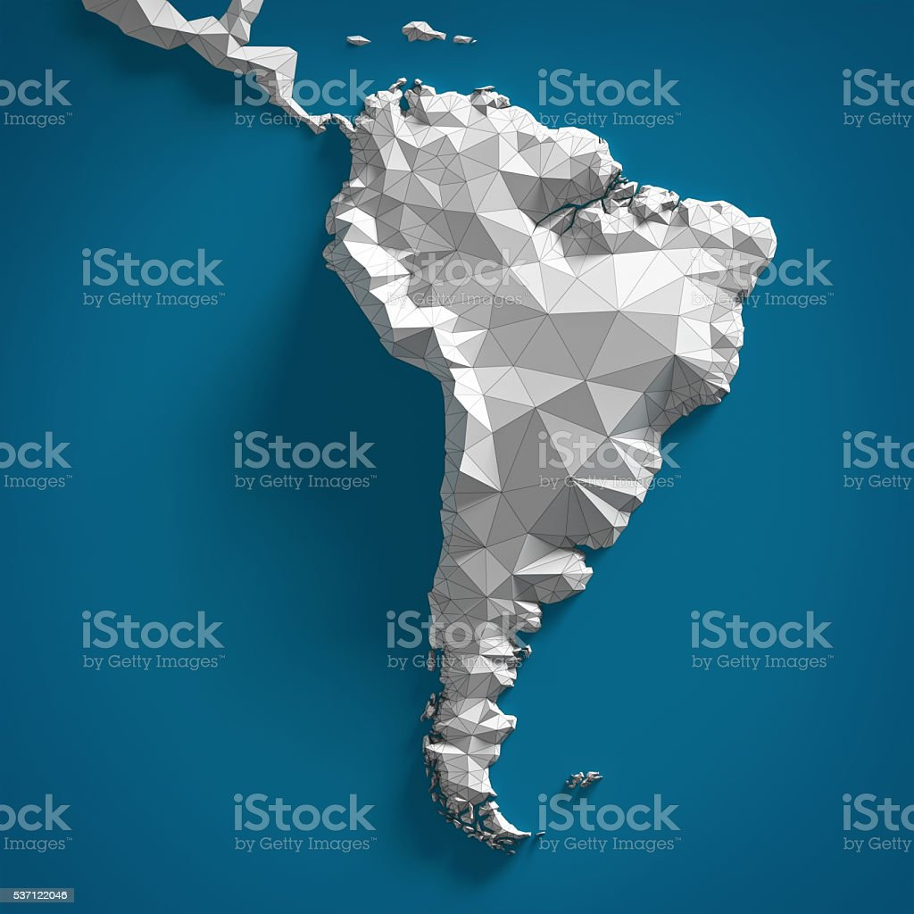 Map of South America stock photo