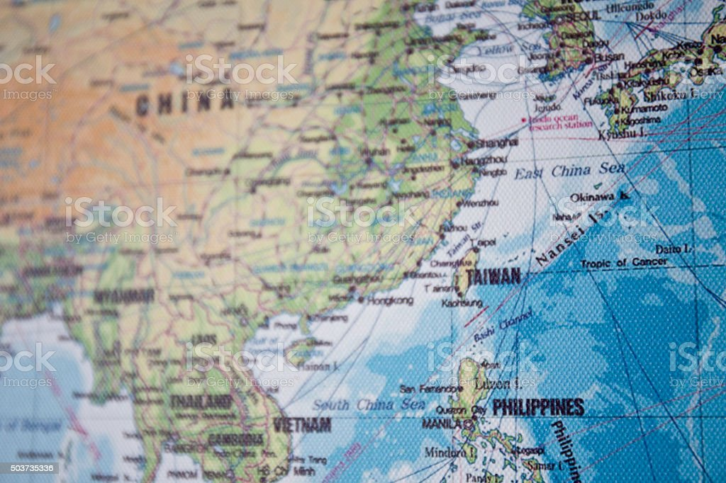 Map of South China Sea stock photo