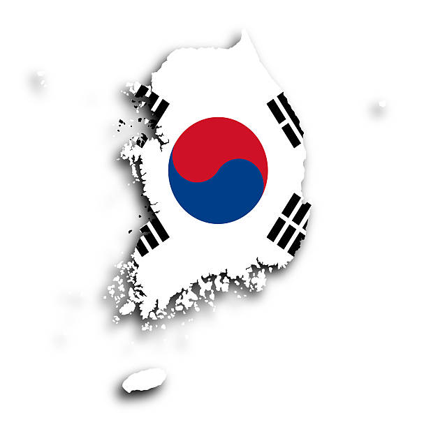 map-of-south-korea-isolated-picture-id186272525